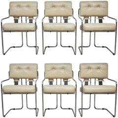 "Set of Six Mariani for Pace ""Tucroma"" Dining Chairs"