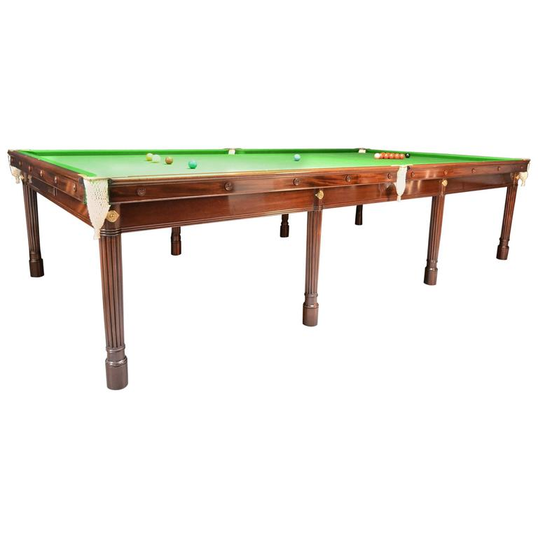 Gillow 39 s billiard snooker pool table circa 1820 for 12ft snooker table for sale