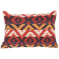 Pillow, Fashioned from a 19th Century Uzbek Gudjeri Weaving