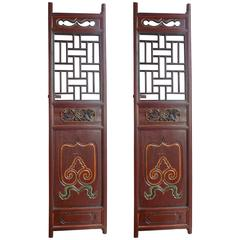 Pair of Chinese Screen Doors