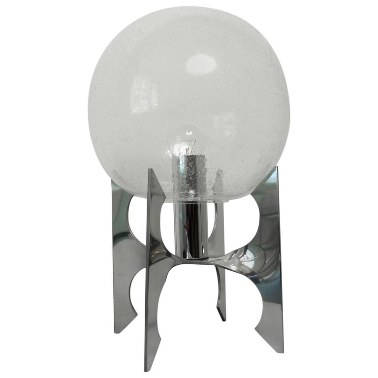 Apollo Table Lamp with Glass Globe Attributed to Staff, Germany, 1970s