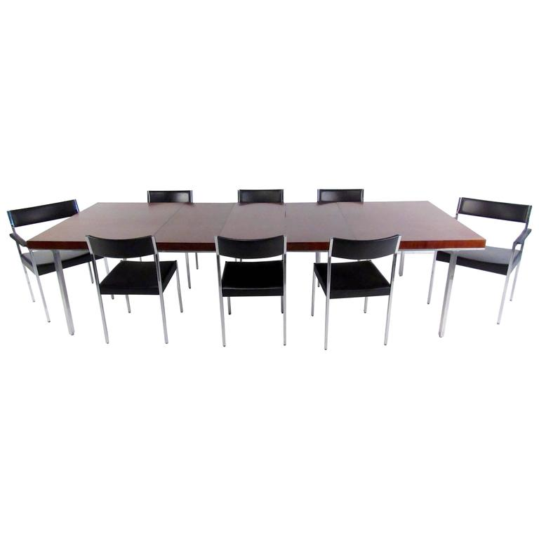 Exquisite John Stuart Dining Table with Eight Chairs
