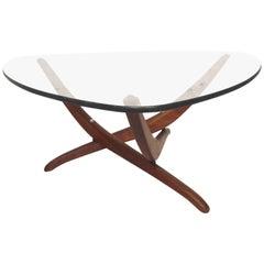 Vintage Mid-Century Glass Side Table