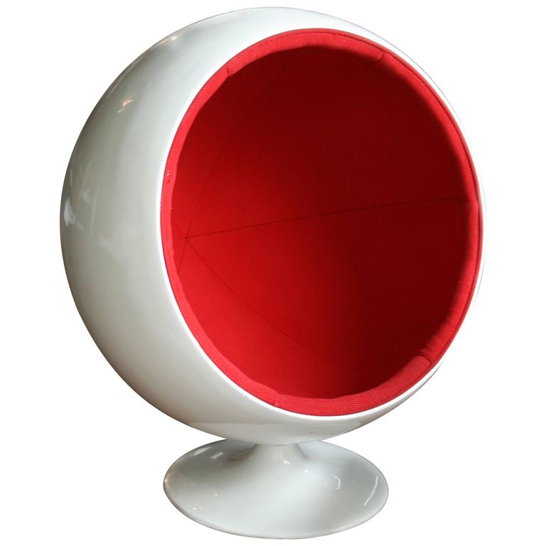 Vintage 1960s Fiberglass Ball Chair For Kids After A Model