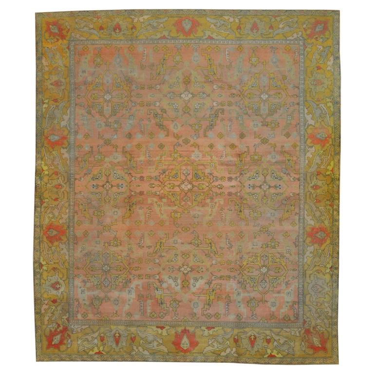 Antique Indian Agra Rug For Sale At 1stdibs: Large Antique Hand-Knotted Indian Agra For Sale At 1stdibs