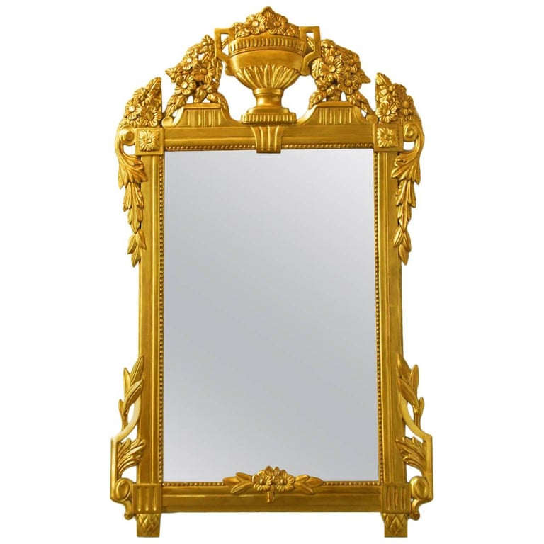 French Regency Louis XVI Style Mirror For Sale