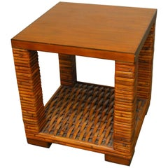 Organic Bamboo Two-Tier Side Table by Palecek