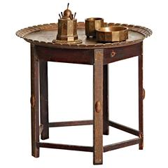 19th Century Bronze Smoking Sellette Table from Erhard & Söhne