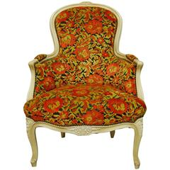 French Louis XV Style Lacquered Bergere