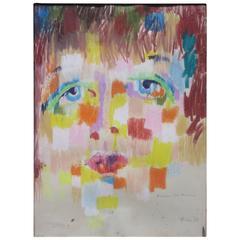 Original Maxine de la Falaise Portrait by Artist Bernard Pfriem, 1958