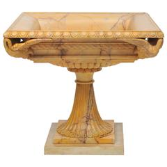 Early 19th Century Grand Tour Tazza in Giallo Antico Marble