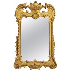 Unusual 18th Century Carved Giltwood Wall Mirror