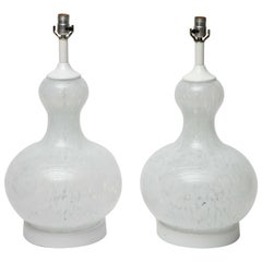 Pair of Late 1960s Handblown Murano Glass Lamps