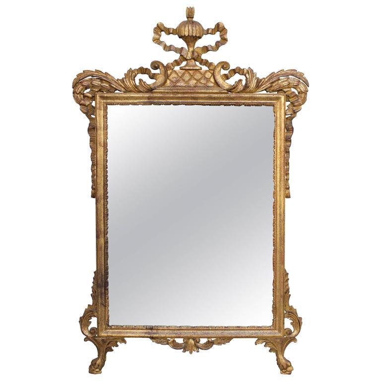 Italian Carver Giltwood Mirror 1