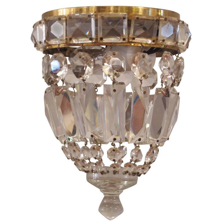 flush mount crystal chandelier at 1stdibs