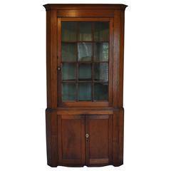 19th Century New England Corner Cabinet
