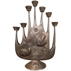 Mid-Century Tin Seven Light Candelabra by Gene Byron