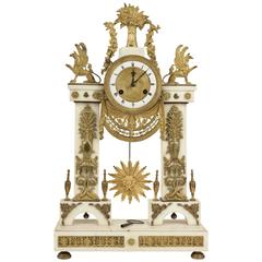 French Empire Period Marble et Ormolu Clock