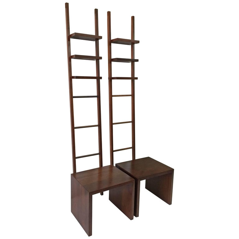 Philippe Starck Teak Ladder and Bench For Sale