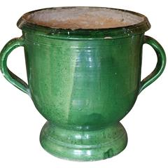 Green Glazed Terracotta Planter
