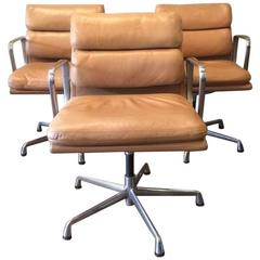 Eames for Herman Miller Soft Pad Executive Swivel Chairs