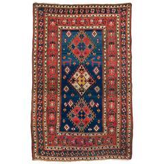 Outstanding Antique Caucasian Kazak Rug