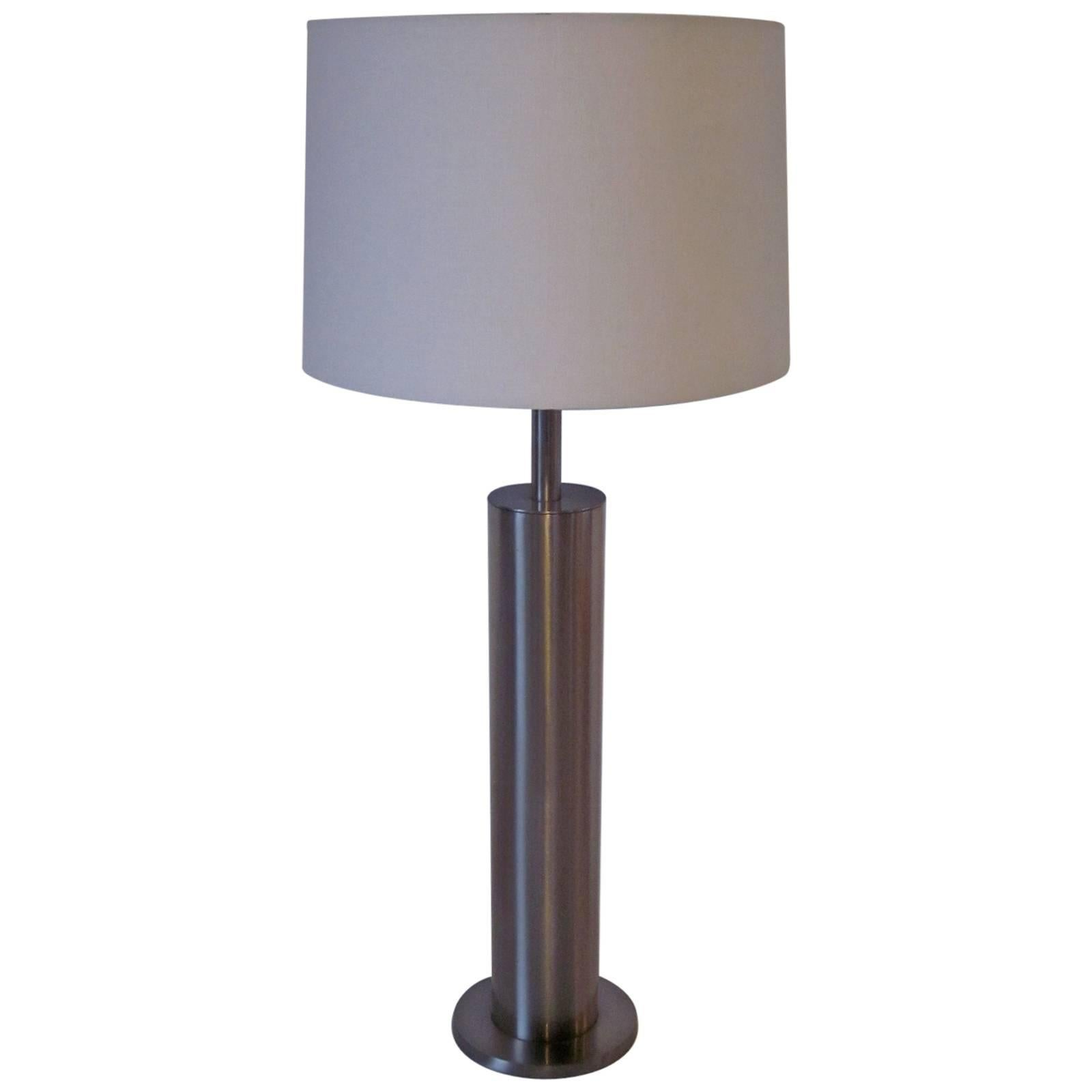 Laurel Brushed Stainless Table Lamp