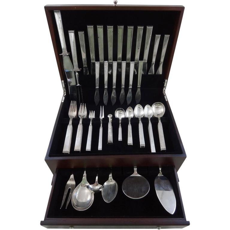 Funkis By Sorensen Sterling Silver Danish Flatware Set