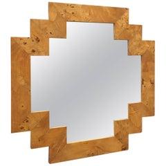 Geometric Italian Burl Mirror