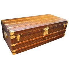 Very Long and High 1920s Louis Vuitton Monogram Canvas Cabin Steamer Trunk