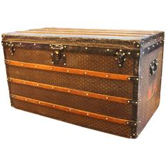 1920s Large French Goyard Courrier Steamer Trunk