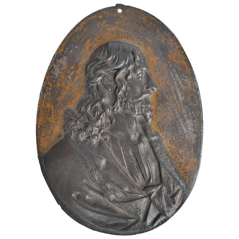 1800 Cast Iron Christ Medallion