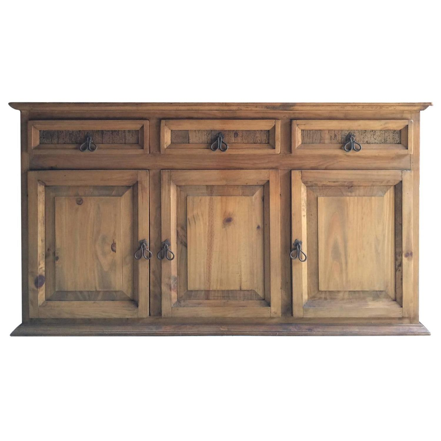 Reclaimed solid pine dresser sideboard buffet credenza for Sideboard pinie