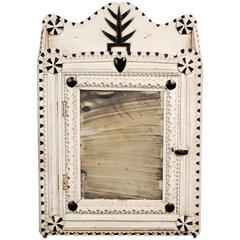 Painted Tramp Art Cabinet with Heart and Tree