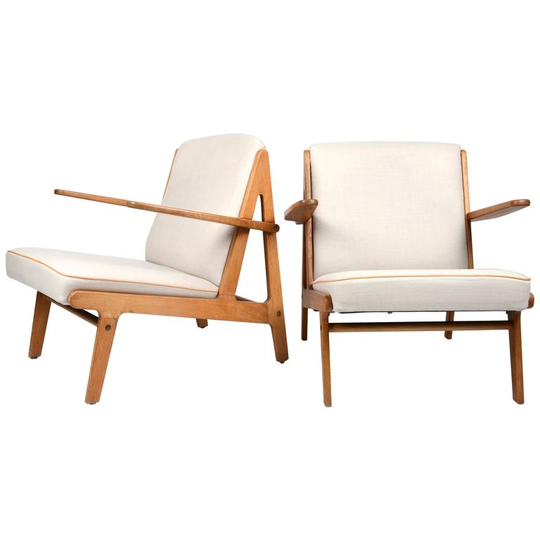 Pair of Easy Chairs, Børge Mogensen for Fredericia Stolefabrik, 1951
