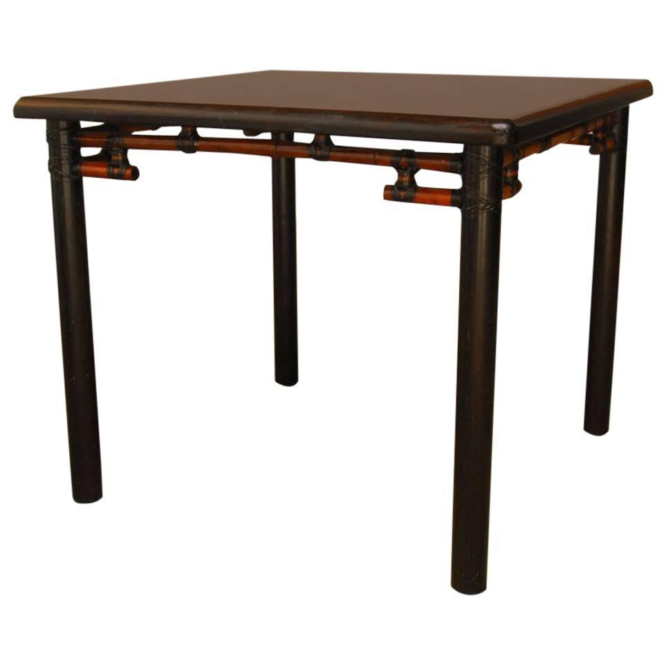 Bamboo Square Table: McGuire Bamboo And Wood Square Dining Table At 1stdibs