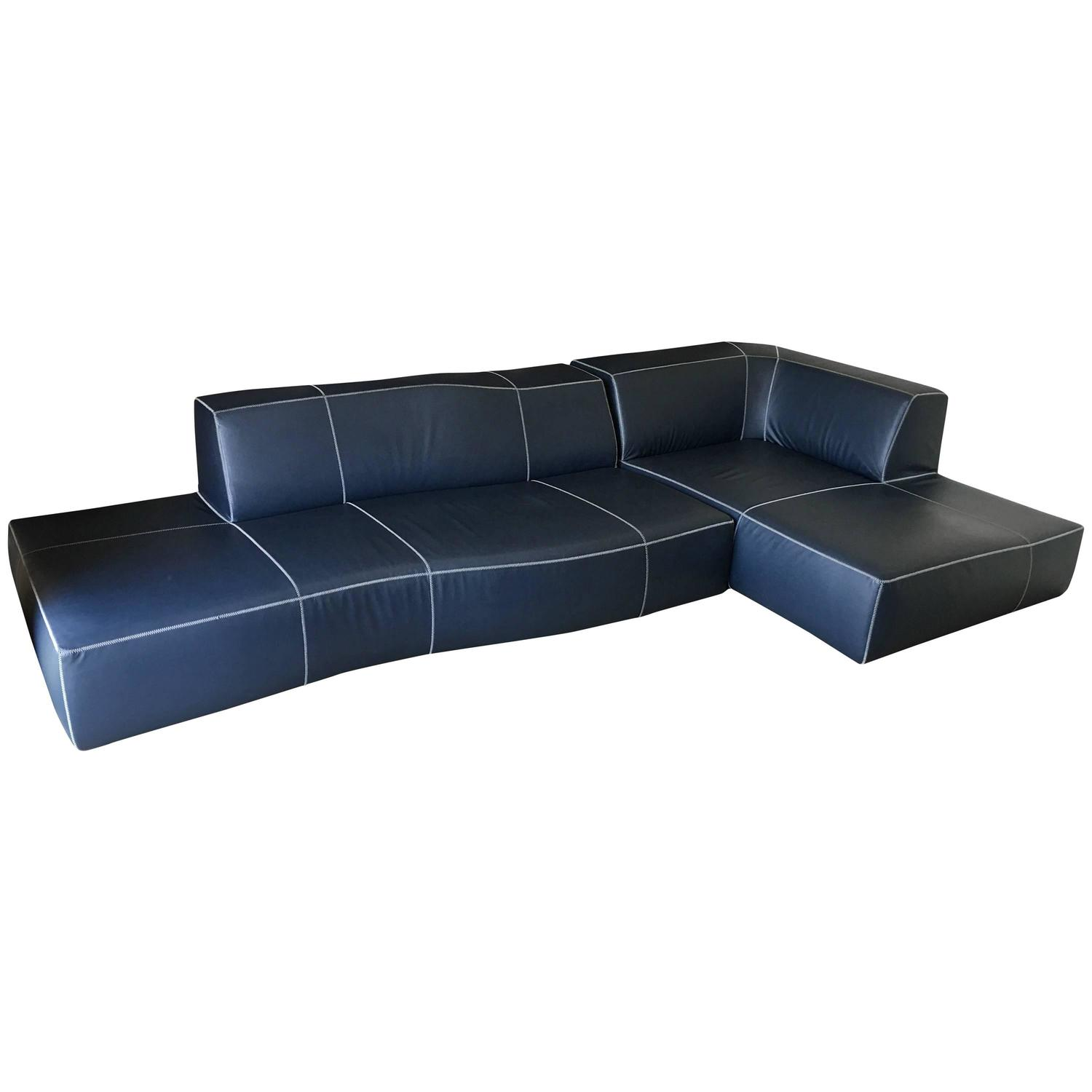 b b italia modular bend sectional sofa at 1stdibs. Black Bedroom Furniture Sets. Home Design Ideas