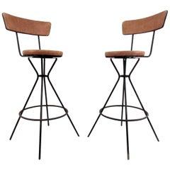 Set of Three Vintage Modern Barstools
