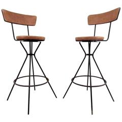 Set of Three Vintage Modern Barstools