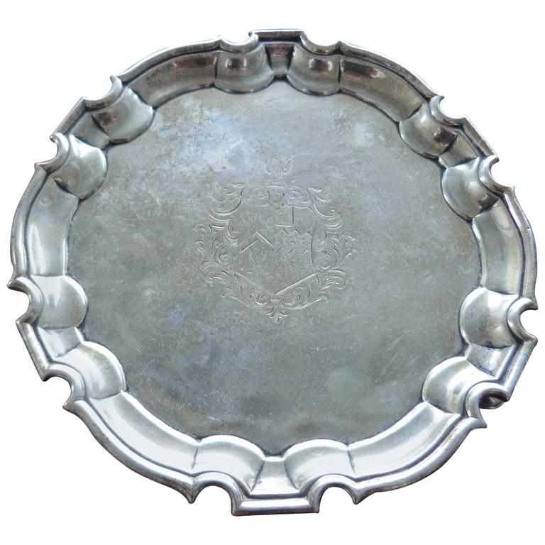George II Silver Salver, Mark of George Hindmarsh, London, 1734 For Sale