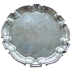 George II Silver Salver, Mark of George Hindmarsh, London, 1734