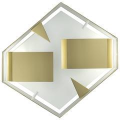 Hexagonal Quadro Di Luce Wall Sconce, Gio Ponti, Re-Edition