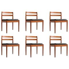 Six Kai Kristiansen Teak Dining Chairs