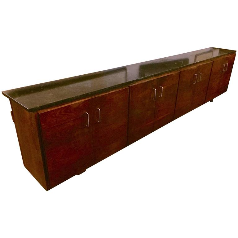 Mid-Century Modern Floating Wall-Mounted Credenza