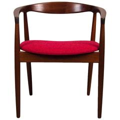 Kai Kristiansen Danish Afromosia Round Chair