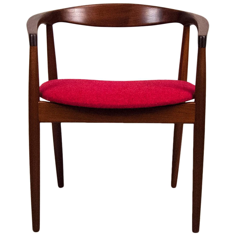 Kai kristiansen danish afromosia round chair at 1stdibs - Kai kristiansen chair ...
