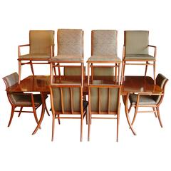 T. H. Robsjohn-Gibbings for Widdicomb Sabre Complete Dining Room Suite