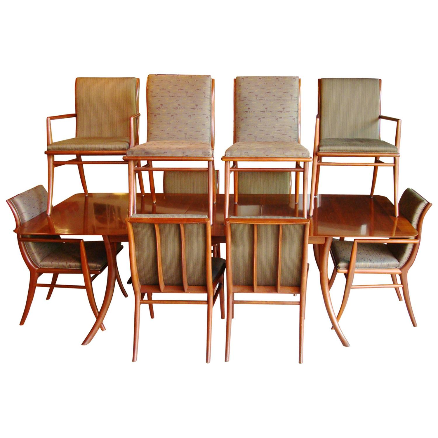T h robsjohn gibbings for widdicomb sabre complete for Complete dining room sets