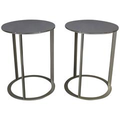 Polished Stainless Steel Table Pair by Antonio Citterio