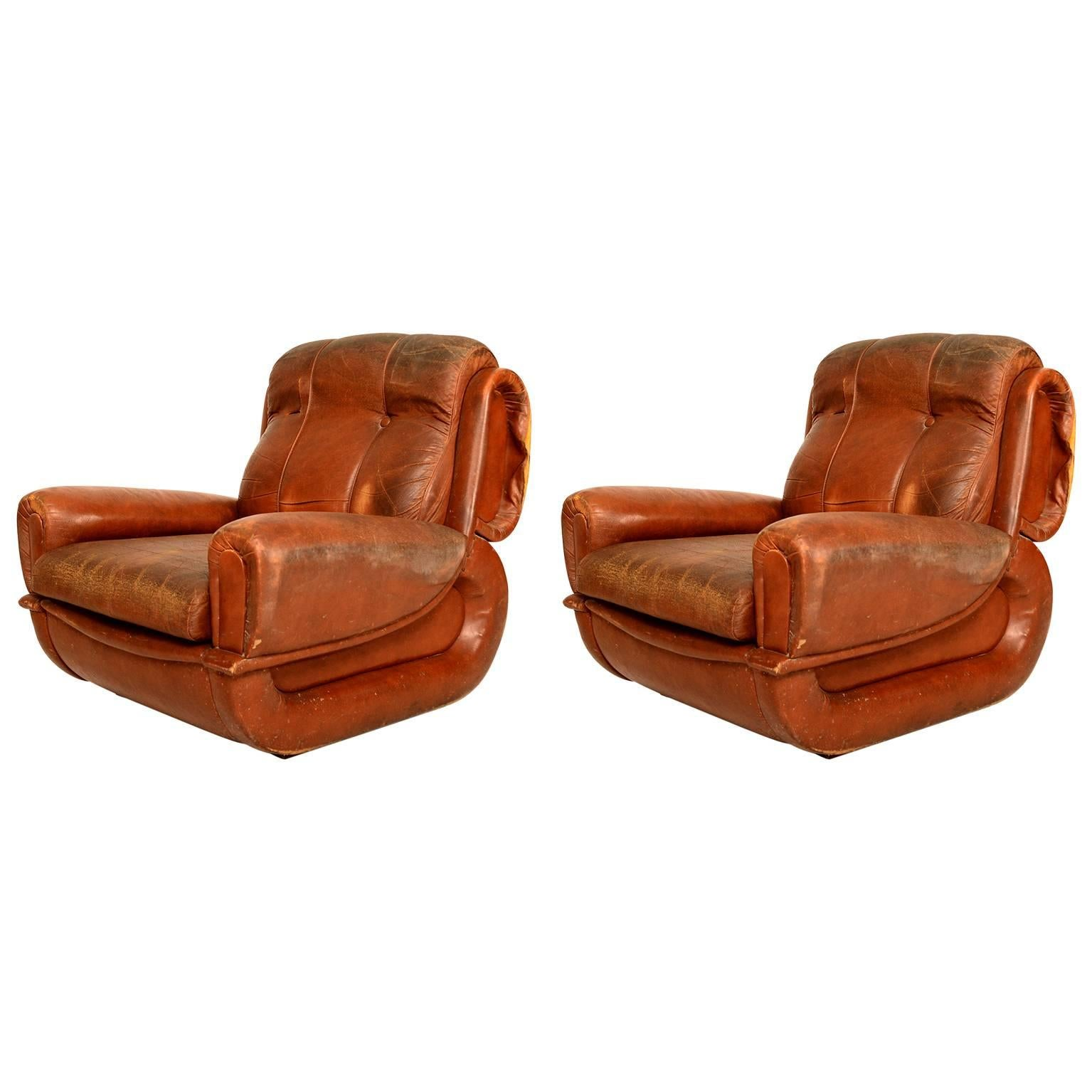 Art Deco Pair of French Armchairs